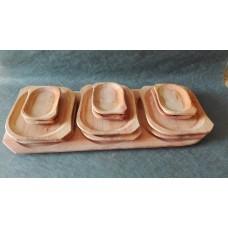 Dřevěné misky, korýtka