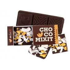 Mini čokoláda : Hořká s kokosem a lyo pomerančem 50g