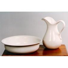 Džbán na vodu keramický 3 L  bílý