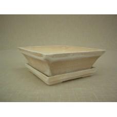 Keramická Bonsai miska čtyřhran s podmiskou velká
