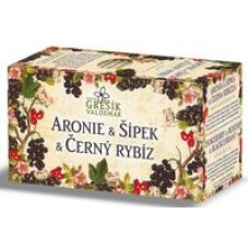 Grešík Ovocný čaj Aronie & Šípek & Černý rybíz 20 x 2g