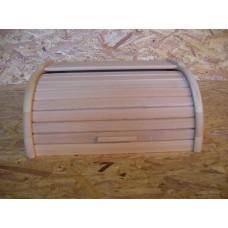 Dřevěný chlebník, zavírací, natural provedení