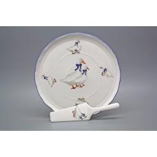Porcelánový dortový set  Husy