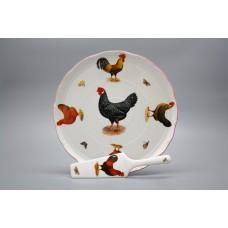 Porcelánový dortový set Ofélie Slepičky