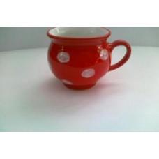 Bucláček červený s puntíky