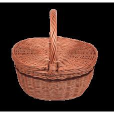 Proutěný košík, piknik - oválný
