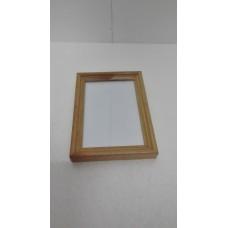 Rámeček dřevěný se stojánkem na fotografie se sklíčkem